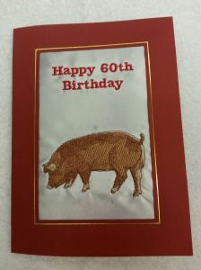 HAPPY BIRTHDAY - Duroc Pig - Cards